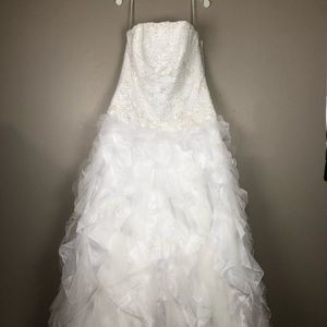 Monique Luo Wedding Dress Gown 16W With Extras!!